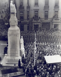 The unveiling of George Frampton's statue of Edith Cavell, by Reginald Silk - NPG x125691