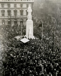 The unveiling of George Frampton's statue of Edith Cavell, by Reginald Silk - NPG x125692