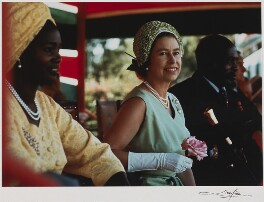 Mama Ngina (Ngina Kenyatta); Queen Elizabeth II; Jomo Kenyatta, by Patrick Lichfield - NPG x29566