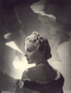 Madeleine Carroll, by Ted Allan (Theos Alwyn Dunagan), 1937 - NPG  - © reserved; collection National Portrait Gallery, London