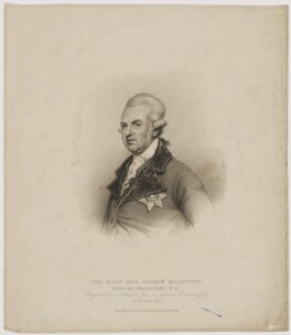 George Macartney, 1st Earl Macartney, by Gaetano Stefano Bartolozzi, published by  T. Cadell & W. Davies, after  Henry Edridge - NPG D13743