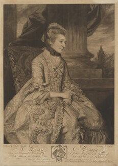 Elizabeth Montagu (née Robinson), by and published by John Raphael Smith, after  Sir Joshua Reynolds, published 10 April 1776 (1775) - NPG D13746 - © National Portrait Gallery, London