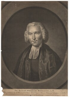 William Romaine, by Richard Houston, printed for and published by  Carington Bowles, after  John Russell - NPG D13748