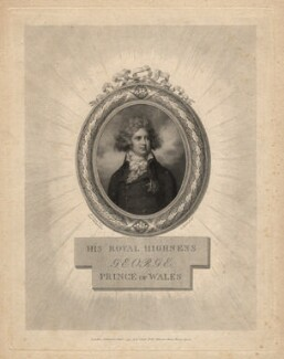King George IV, by Jean Condé, after  Richard Cosway - NPG D13730