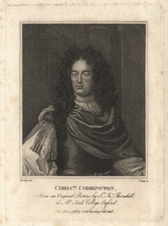 Christopher Codrington, by R. Clamp, after  Sir James Thornhill - NPG D13732