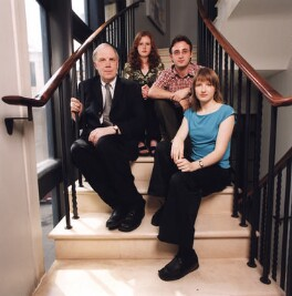 Terence Pepper; Katy Turner; Max William Dunbar; Clare Freestone, by Claire Wheeldon, 18 June 2002 - NPG x125847 - © Claire Wheeldon