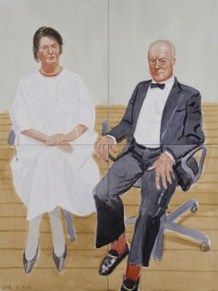 Sir George William Langham Christie; (Patricia) Mary (née Nicholson), Lady Christie, by David Hockney, 2002 - NPG  - © David Hockney 2002