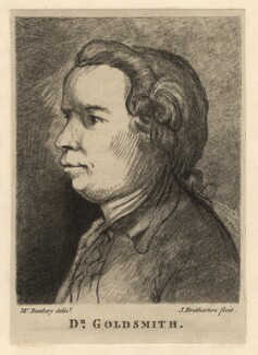 Oliver Goldsmith, by James Bretherton, after  Henry William Bunbury - NPG D13797