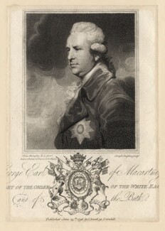 George Macartney, 1st Earl Macartney, by Joseph Singleton, published by  John Sewell, after  Ozias Humphry - NPG D13803
