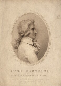Luigi Marchesi, by Luigi Schiavonetti, published by  Colnaghi & Co, after  Richard Cosway - NPG D13804