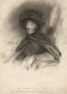 Hester Lynch Piozzi (née Salusbury, later Mrs Thrale), by Henry Meyer, published by  T. Cadell & W. Davies, after  John Jackson - NPG D13807