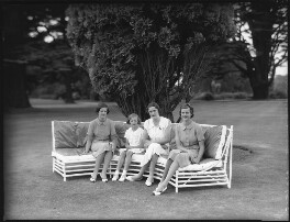 Lady Caroline Waterhouse; Lady Rosemary Muir; Alexandra Cadogan, Duchess of Marlborough; Lady Sarah Roubanis, by Bassano Ltd, 10 March 1937 - NPG x81368 - © National Portrait Gallery, London