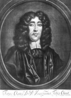 Titus Oates, published by Richard Tompson, after  Thomas Hawker - NPG D19812