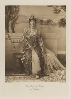 Gwladys Robinson, Marchioness of Ripon when Countess de Grey as Cleopatra, by W. & D. Downey, photogravure by  Walker & Boutall, 1897; published 1899 - NPG  - © National Portrait Gallery, London
