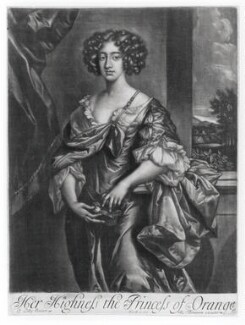 Queen Mary II when Princess of Orange, published by Richard Tompson, after  Sir Peter Lely - NPG D20351