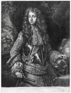 Johan Frederick, Margrave of Brandenburg-Ansbach, published by Richard Tompson, after  Unknown artist, 1678-1679 - NPG D20409 - © National Portrait Gallery, London