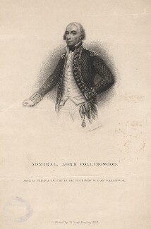 Cuthbert Collingwood, Baron Collingwood, by William Greatbach, published by  Richard Bentley, after  William Say - NPG D13845