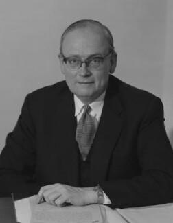 Sir Richard William Barnes Clarke, by Rex Coleman, for  Baron Studios - NPG x125954