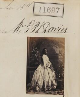 Sarah Forbes Bonetta (Sarah Davies), by Camille Silvy, 15 September 1862 - NPG Ax61380 - © National Portrait Gallery, London