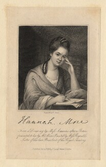 Hannah More, by Edward Scriven, published by  Thomas Cadell the Younger, after  Frances Reynolds - NPG D13788