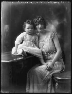 Anne Cynthia Veronica Tempest Leapman (née Plumer); Anne Monica Georgiana Plumer (née Tempest-Hicks), Viscountess Plumer, by Bassano Ltd - NPG x122247