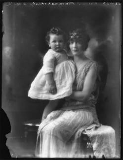 Anne Cynthia Veronica Tempest Leapman (née Plumer); Anne Monica Georgiana Plumer (née Tempest-Hicks), Viscountess Plumer, by Bassano Ltd - NPG x122249
