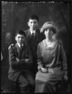 Nigel Benjamin Cohen; Stephen Behrens Cohen; Hannah Mildred ('Nina') (née Behrens), Lady Cohen, by Bassano Ltd - NPG x122254