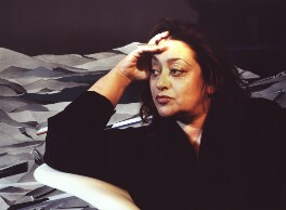 Dame Zaha Hadid, by Steve Speller, 1994 - NPG  - © Steve Speller / National Portrait Gallery, London