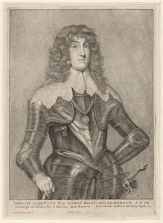 Charles Lewis (Louis), Elector Palatine, by Wenceslaus Hollar, after  Sir Anthony van Dyck, 1646 - NPG D8054 - © National Portrait Gallery, London