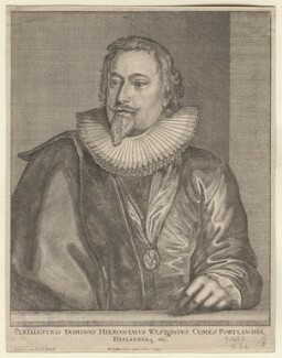 Richard Weston, 1st Earl of Portland, by Wenceslaus Hollar, after  Sir Anthony van Dyck - NPG D8629
