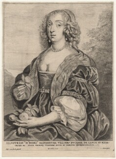 Mary Villiers, Duchess of Richmond and Lennox, by Wenceslaus Hollar, after  Sir Anthony van Dyck, mid 17th century - NPG D9528 - © National Portrait Gallery, London