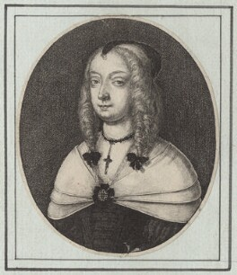 Mary Villiers, Duchess of Richmond and Lennox, by Wenceslaus Hollar, 1648 - NPG D9530 - © National Portrait Gallery, London
