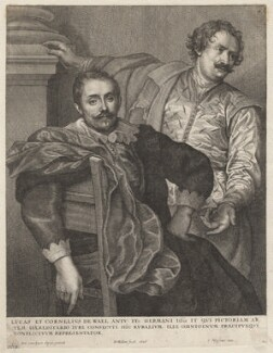 Cornelius de Wael; Lucas de Wael, by Wenceslaus Hollar, after  Sir Anthony van Dyck - NPG D11007