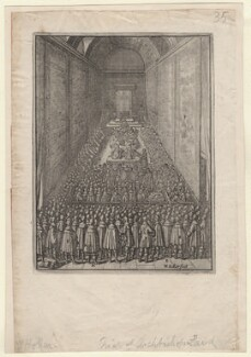 The Trial of Archbishop Laud (relates to William Laud), by Wenceslaus Hollar, 1646 - NPG D7964 - © National Portrait Gallery, London