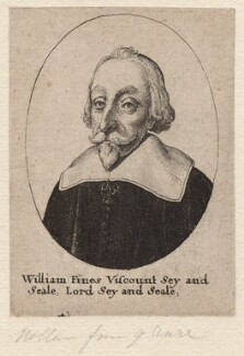 William Fiennes, 1st Viscount Saye and Sele, by Wenceslaus Hollar - NPG D7971