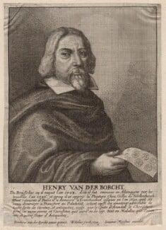 Hendrick van der Borcht the Elder, by Wenceslaus Hollar, after  Hendrick van der Borcht the Younger - NPG D7970