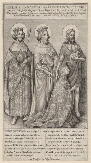 The Wilton Diptych (King Richard II), by Wenceslaus Hollar, after  Unknown artist - NPG D17881