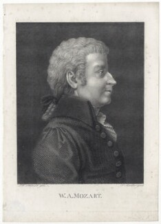 (Johann Chrysostom) Wolfgang Amadeus Mozart, by Friedrich Theodor Müller, after  Friedrich Wilhelm Schmidt, early 19th century - NPG  - © National Portrait Gallery, London