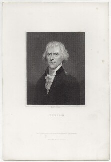 Thomas Jefferson, probably by William Holl Sr, after  Bouch, 19th century - NPG D13763 - © National Portrait Gallery, London