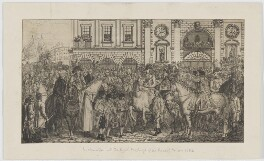Proclamation at the Royal Exchange of the Peace of Amiens, 1802, probably by and published by Peltro William Tomkins - NPG D13756
