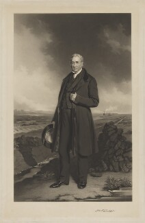 George Stephenson, by Thomas Lewis Atkinson, after  John Lucas - NPG D13734