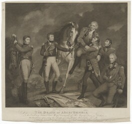 The Death of Abercrombie (Sir Ralph Abercromby and five others), by Edward Mitchell, after  James Northcote - NPG D13766