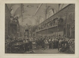 View of the interior of the House of Lords, during the important investigation in 1820, by John George Murray, after  James Stephanoff - NPG D13771