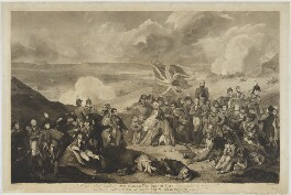 The Death of Gen: Sir Ralph Abercrombie, by Giovanni Vendramini, printed by  J. Matthews, published by  John Peter Thompson, after  Sir Robert Ker Porter, published 4 June 1804 - NPG D13764 - © National Portrait Gallery, London