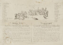 Descriptive Sketch of the Print of the Death of Gen: Sir Ralph Abercrombie, published by John Peter Thompson, after  Sir Robert Ker Porter - NPG D13765