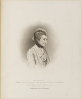 Elizabeth Montagu (née Robinson), by Thomas Cheesman, published by  T. Cadell & W. Davies, after  William Evans, after  Sir Joshua Reynolds - NPG D13889