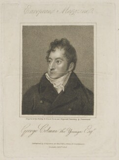 George Colman the Younger, by Ridley & Blood, published by  James Asperne, after  Samuel Drummond - NPG D13892