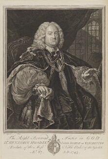 Benjamin Hoadly, by Bernard Baron, after  William Hogarth - NPG D13894
