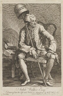John Wilkes, by William Hogarth, published 16 May 1763 - NPG D13903 - © National Portrait Gallery, London
