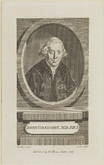 John Gregory, by Cook, published by  William Bent, after  Sir George Chalmers - NPG D13907